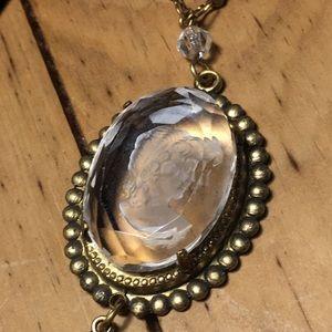 Glass Cameo Necklace
